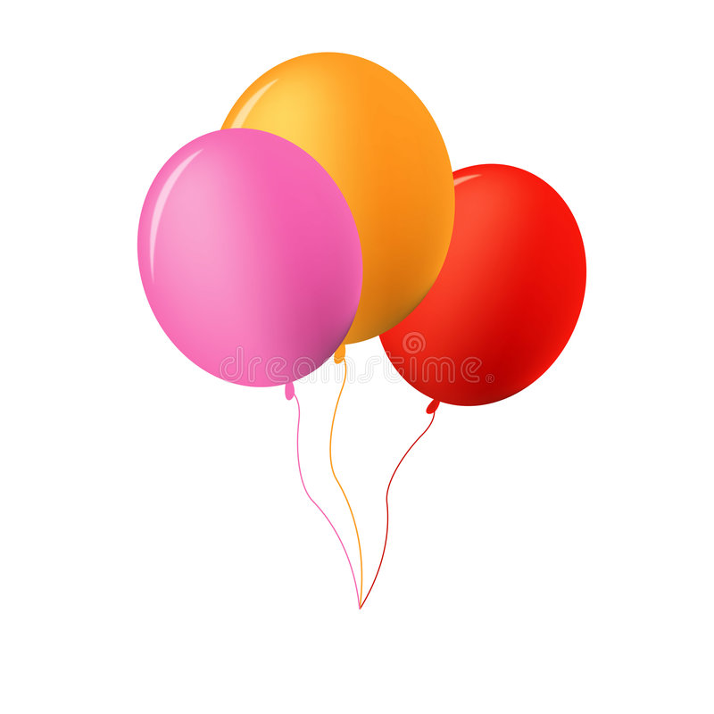 Baloons illustration stock