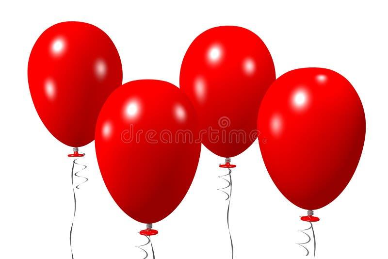 Baloons begrepp stock illustrationer