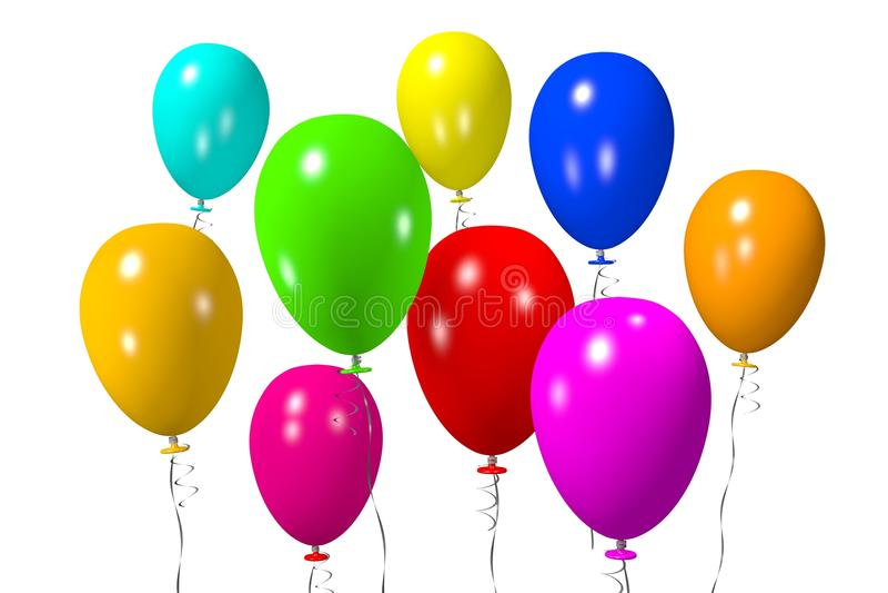 Baloons coloridos ilustração do vetor
