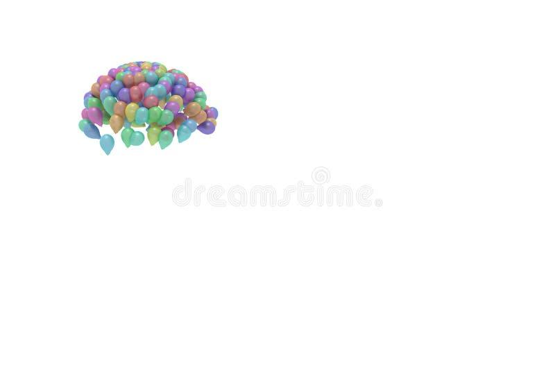 Baloons coloridos, ejemplo 3d ilustración del vector