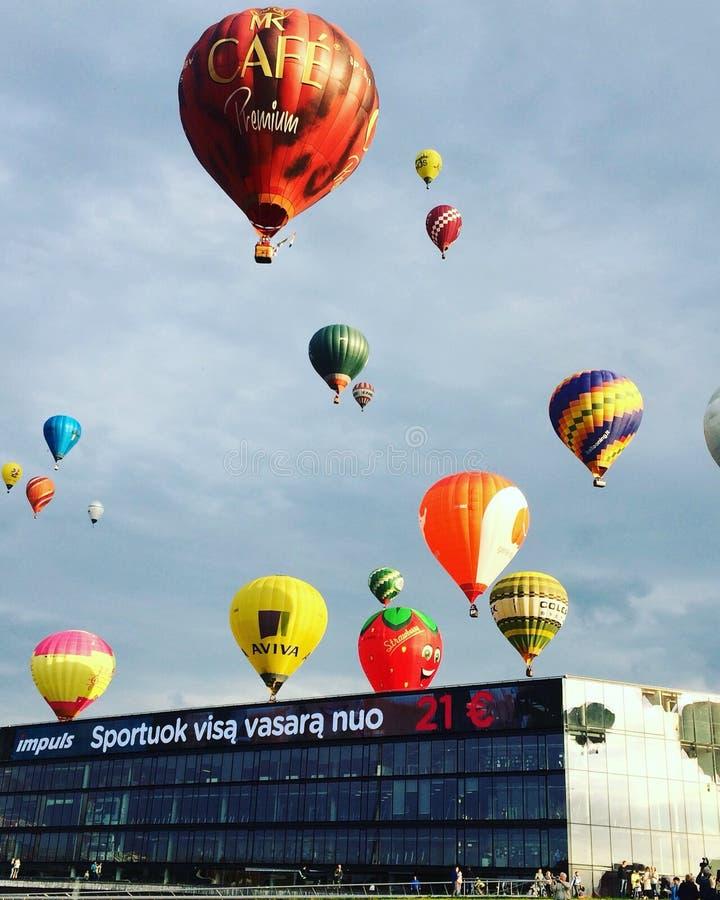 Baloons dell'aria immagini stock