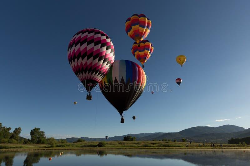 Baloons dell'aria calda fotografie stock