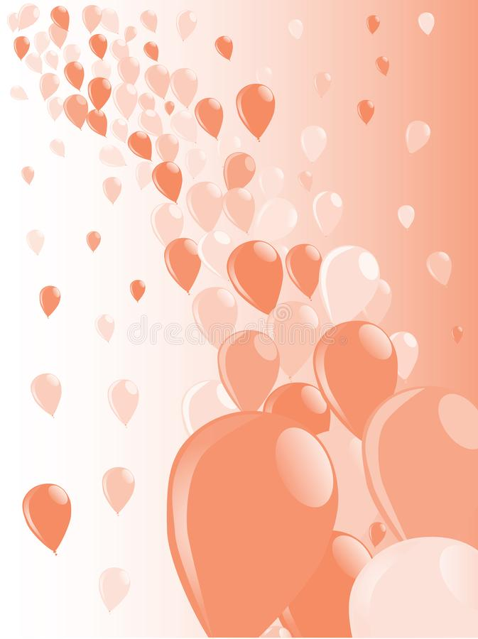 Two Tone Baloons Background royalty free illustration