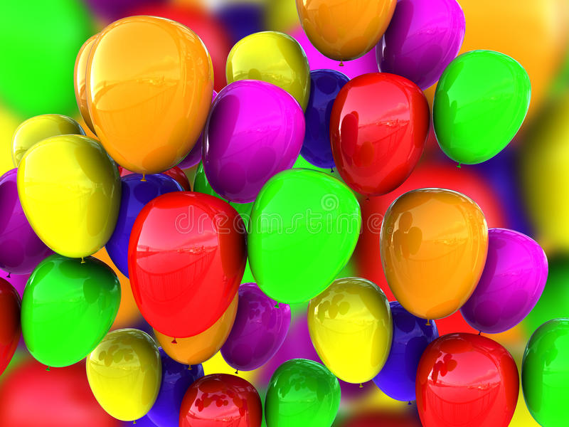Baloons Hintergrund vektor abbildung