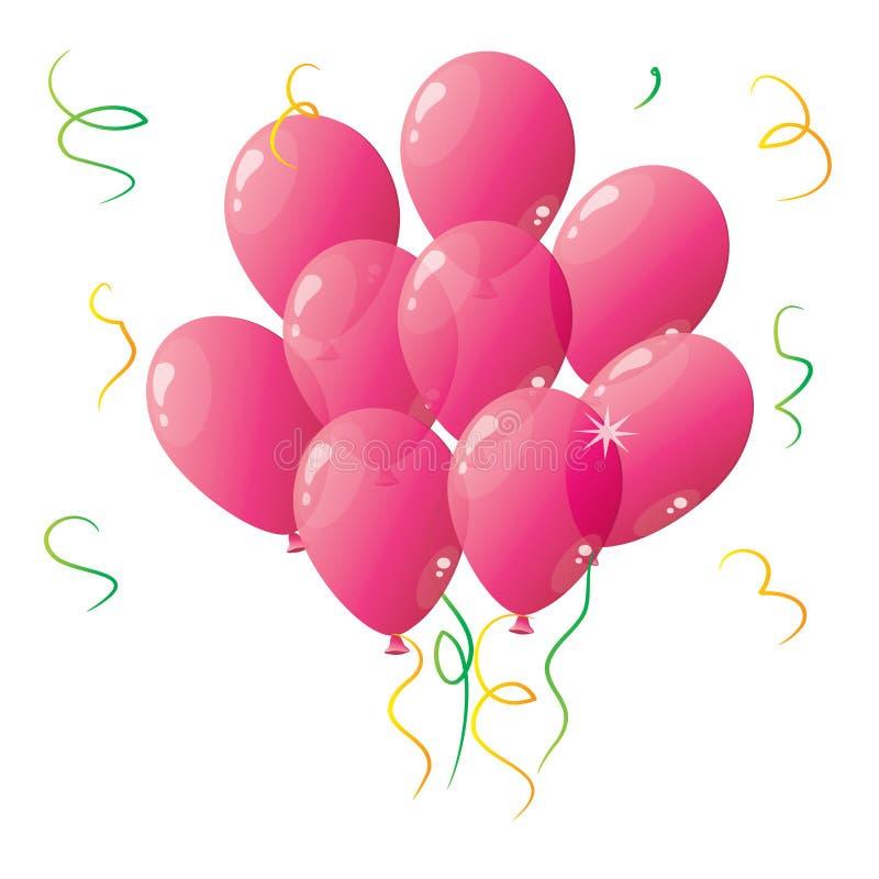 Baloons rosados ilustración del vector