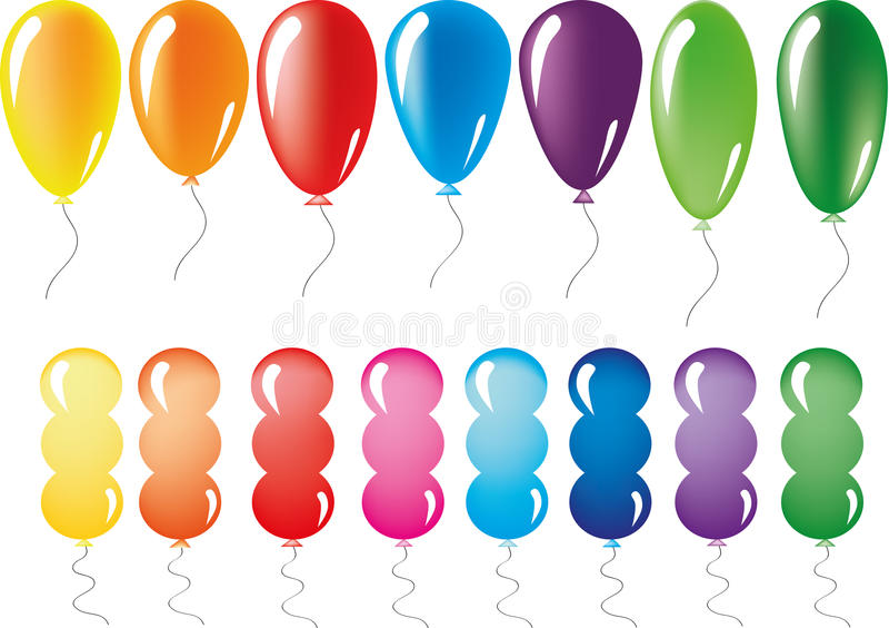 Baloons uppsättning vektor illustrationer