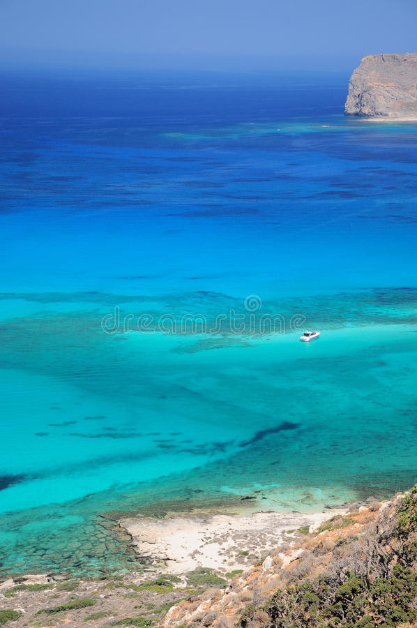 Balos海滩克利特 免版税库存照片