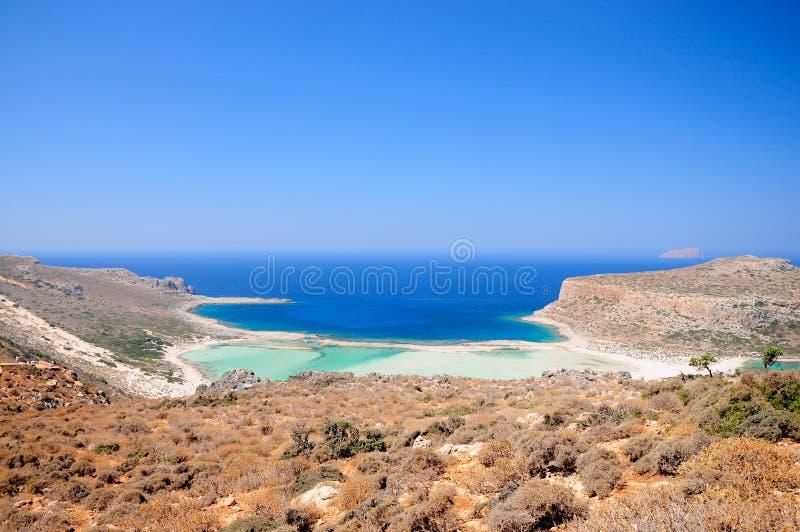 Balos海滩克利特 库存照片