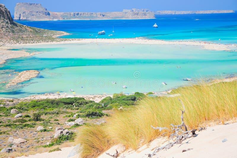 Balos海滩,克利特,希腊 免版税库存照片