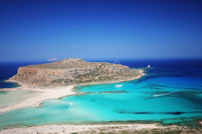 Balos海滩,克利特,希腊 库存照片