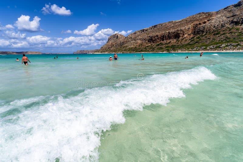 Balos Крит Греция стоковое изображение rf