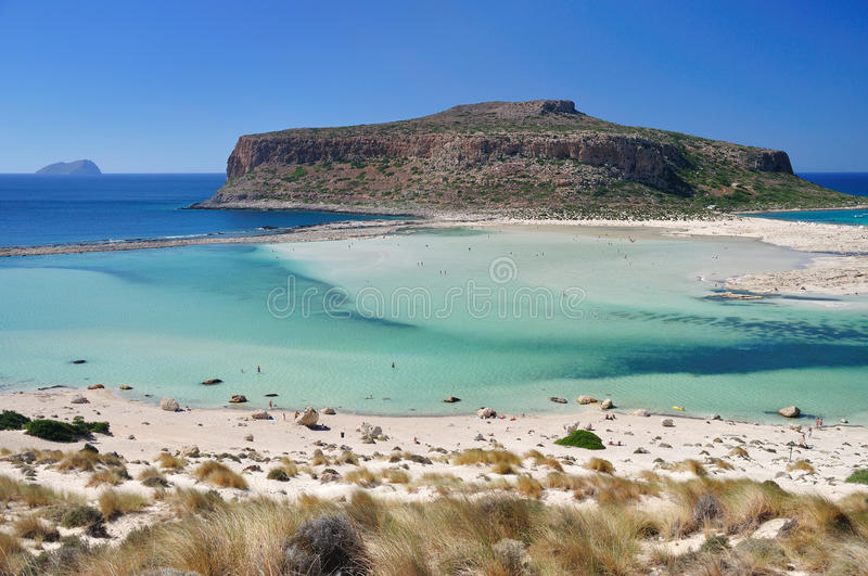 Balos bay. View on balos bay beach royalty free stock photography