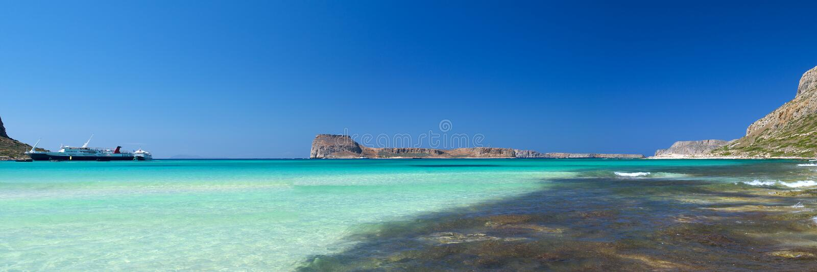 Balos bay, Gramvousa (Crete,. Scenic view of Balos bay (Gramvousa, Crete, Greece stock photography