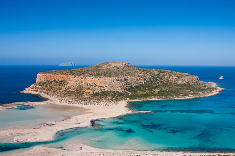 Balos Beach. Landscape at Balos Beach in Crete, Greece royalty free stock photos
