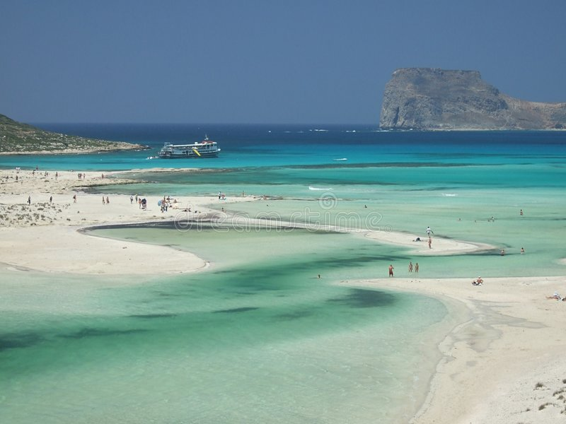 Balos Beach, Crete, Greece. Beach in the Balos Bay near Gramvousa, Crete stock images
