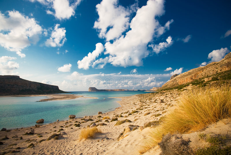 Balos beach, crete, greece. Summer view of balos beach, crete, greece stock image