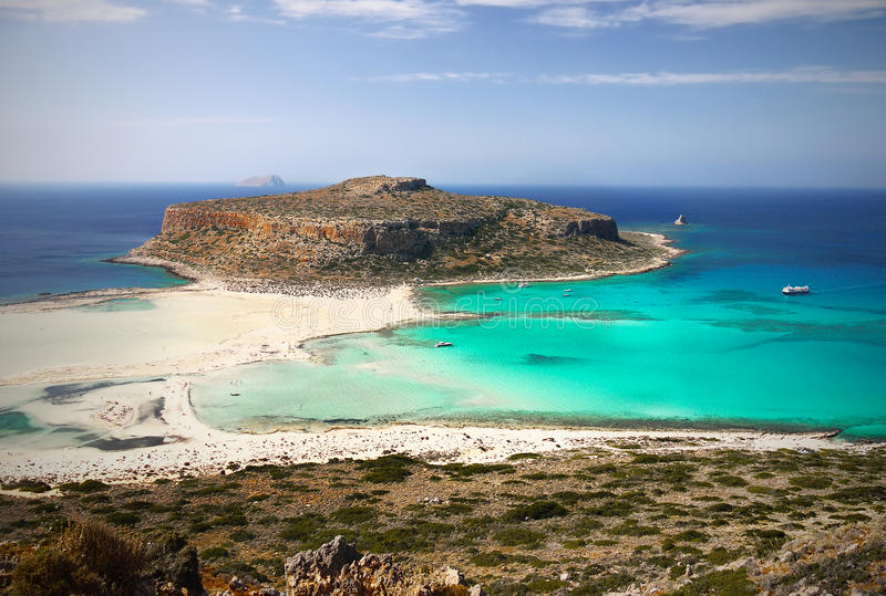 Balos Beach, Crete Island, Greece stock photos