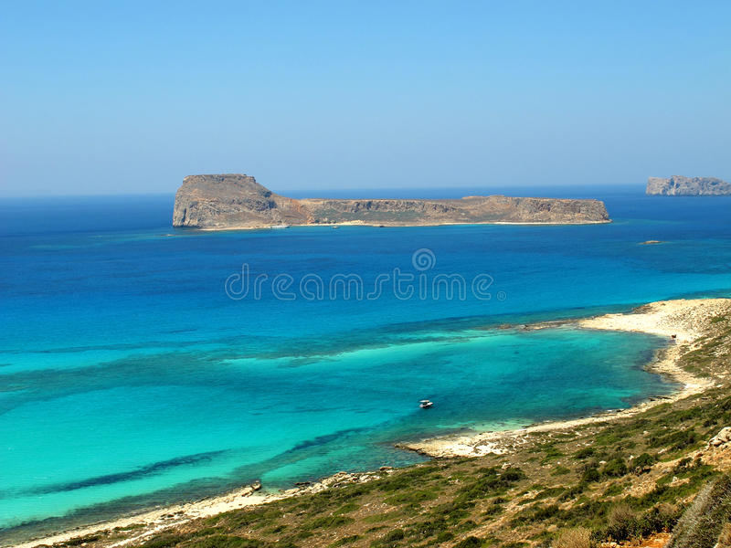 Balos beach in Crete. The Balos beach in north western Crete royalty free stock photography