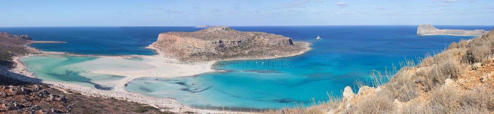 Balos beach Crete. Panoramic view of Balos beach, Greece, Crete royalty free stock image