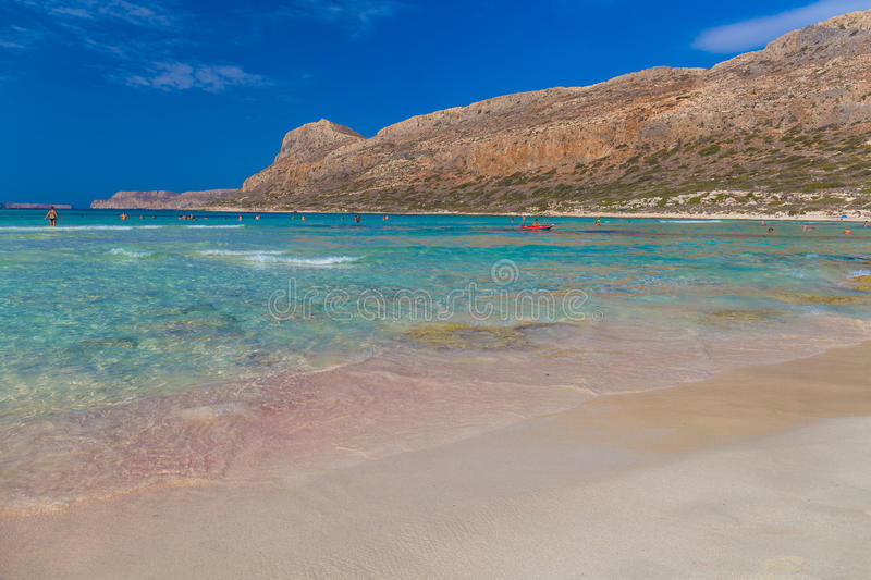 Balos beach and lagoon, Chania prefecture, West Crete, Greece royalty free stock image