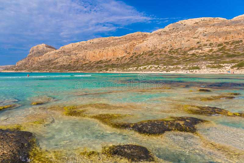 Balos beach and lagoon, Chania prefecture, West Crete, Greece stock image