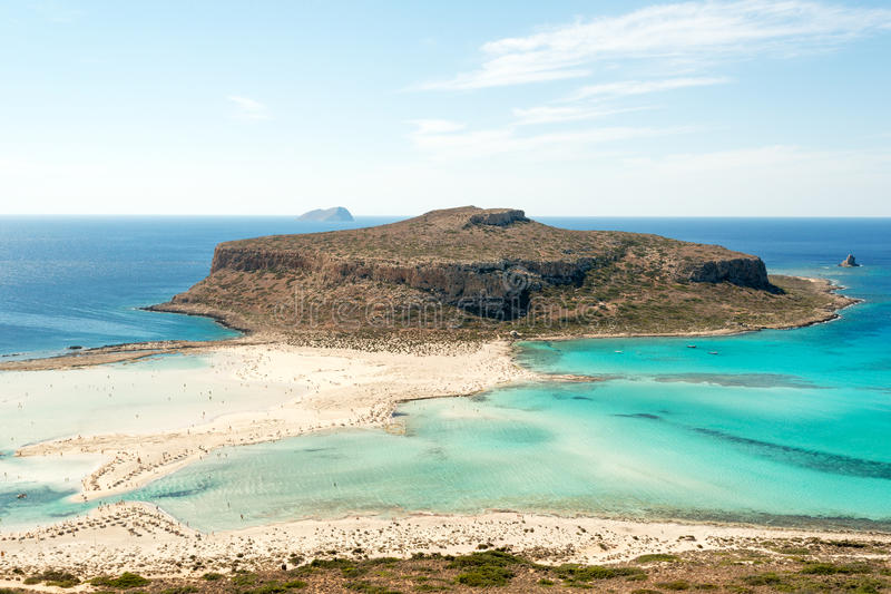 Balos beach. Turquoise waters of famous Balos beach, Crete, Greece royalty free stock photos