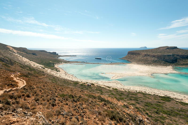 Balos beach. Turquoise waters of famous Balos beach, Crete, Greece royalty free stock images