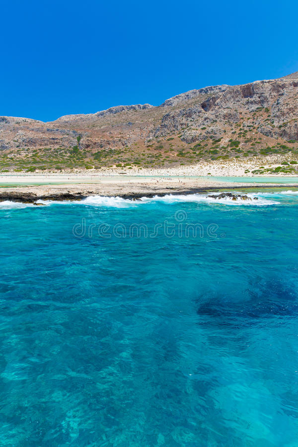 Download Balos Beach. View From Gramvousa Island, Crete In Greece.Magical Turquoise Waters, Lagoons, Beaches Stock Photo - Image: 40043405