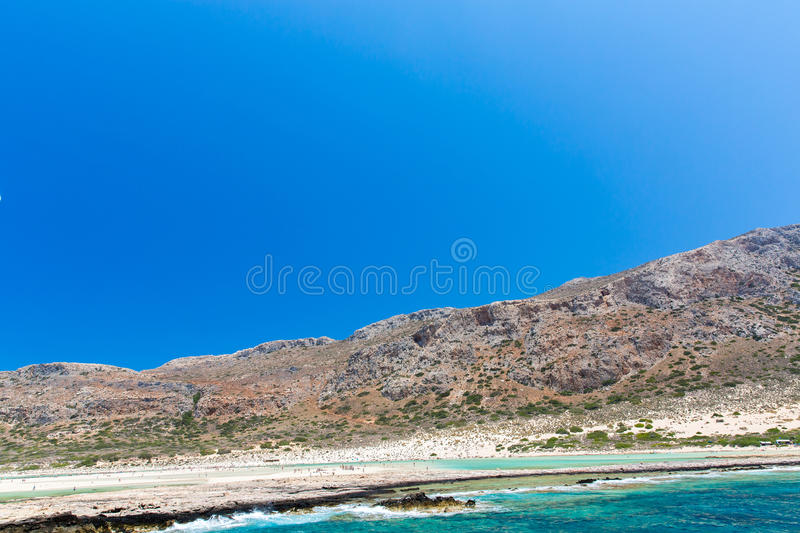 Download Balos Beach. View From Gramvousa Island, Crete In Greece.Magical Turquoise Waters, Lagoons, Beaches Stock Photo - Image: 40518349