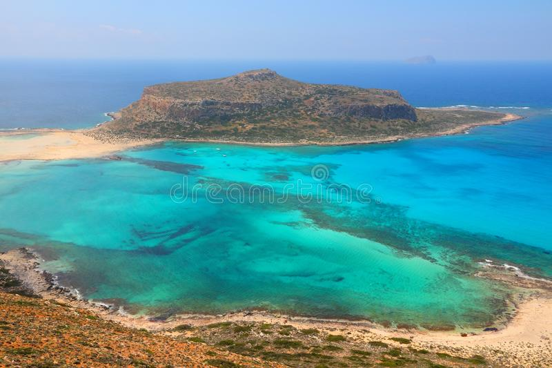 Balos, Crete. Coast of Crete island in Greece. Famous Balos lagoon stock photography