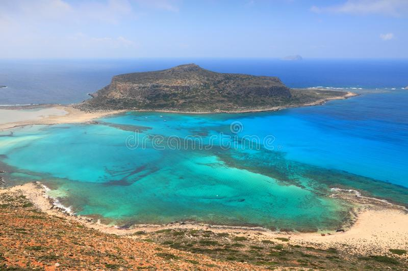 Balos, Crete. Balos Lagoon. Coast of Crete island in Greece stock photos