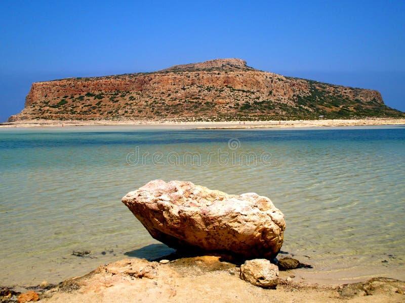 balos Crete wyspy laguny seascape obraz royalty free