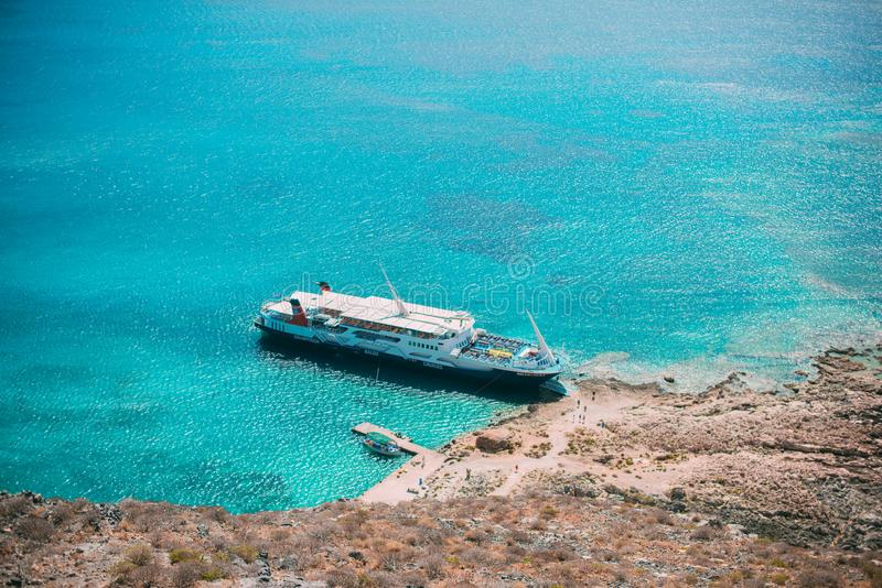Balos Grekland arkivbild
