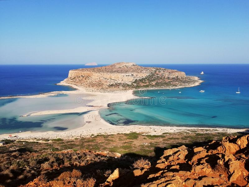 Balos lagoon. Balos, beach, crete, greece, sea, beautiful, summer, nature royalty free stock images