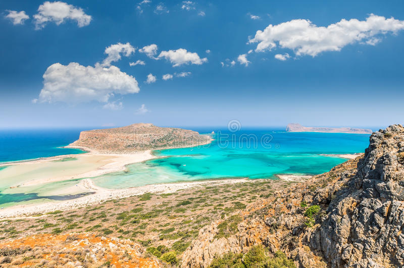 Balos lagoon on Crete island, Greece. stock photography