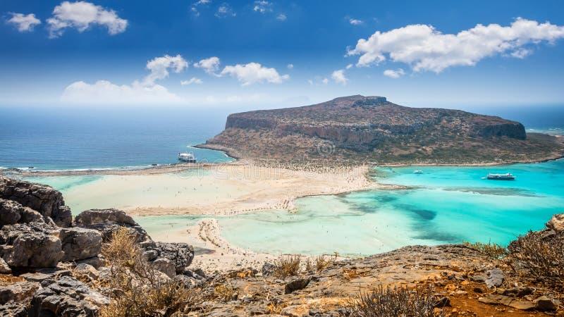 Balos lagoon on Crete island, Greece. royalty free stock images