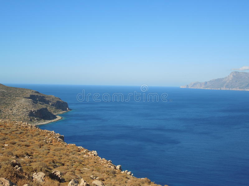 Balos półwysep na Crete wyspie, Grecja obrazy royalty free