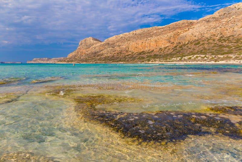 Balos plaża i laguna, Chania prefektura, Zachodni Crete, Grecja obraz stock