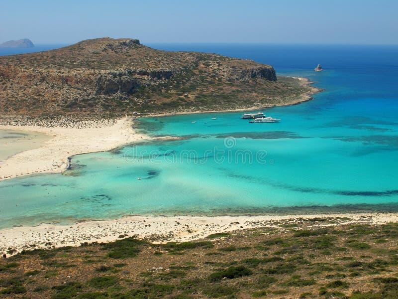 Balos plaża w Crete fotografia royalty free