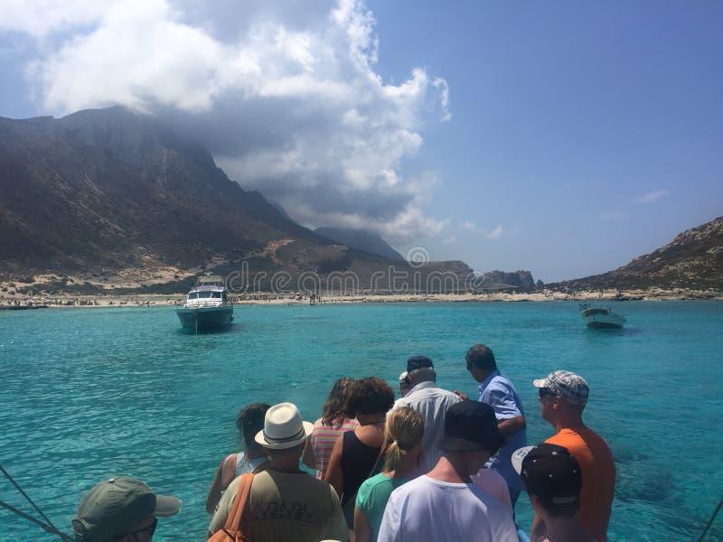 Balos strand royaltyfria bilder