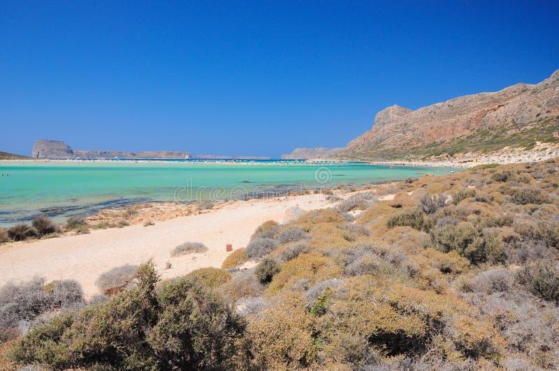Balos strand, crete, Grekland royaltyfri bild