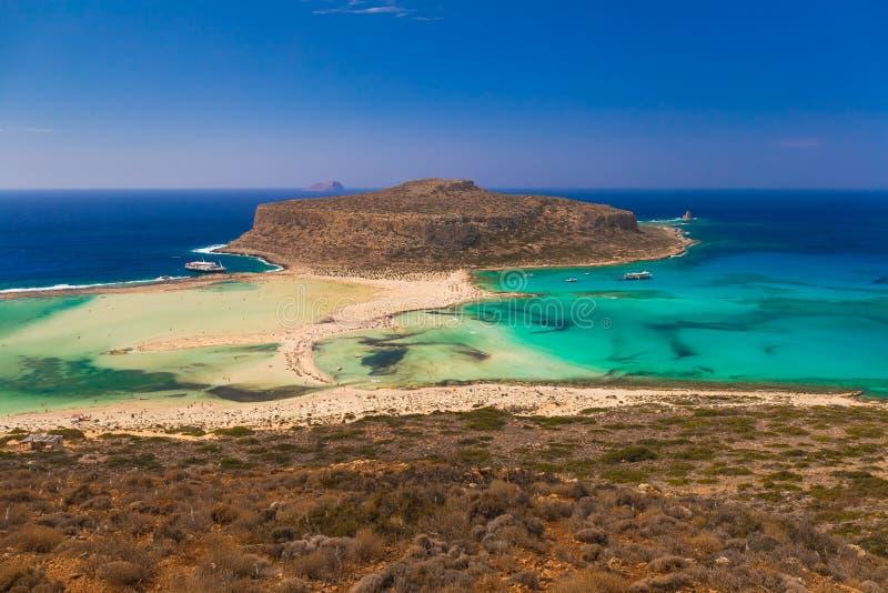 Balos strand och lagun, Chania prefektur, västra Kreta, Grekland arkivfoton