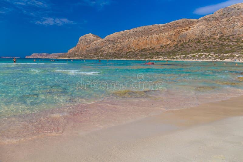 Balos-Strand und Lagune, Chania-Präfektur, West-Kreta, Griechenland lizenzfreies stockbild