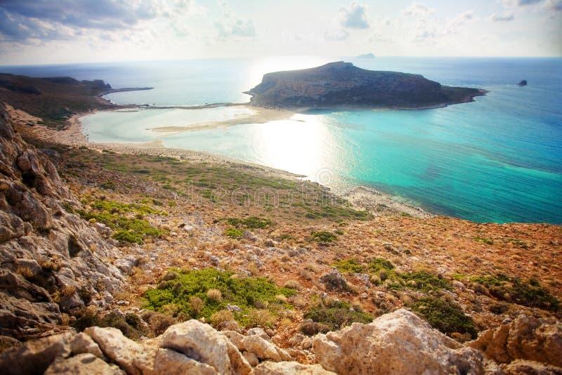 balosstrand crete greece fotografering för bildbyråer