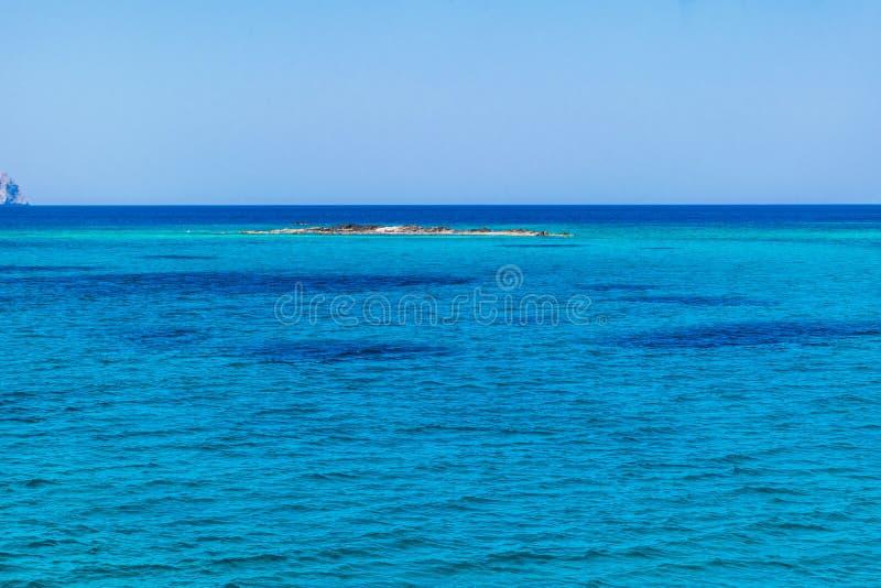 Balosstrand in Griekenland Overzees mening en de zomerlandschap royalty-vrije stock foto's