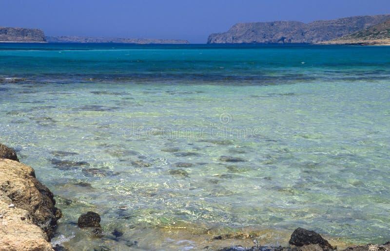 Balosstrand, het Eiland van Kreta royalty-vrije stock foto