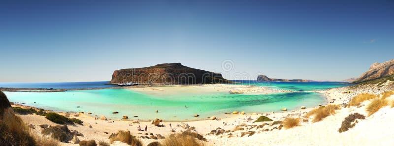 Balosstrand, het eiland van Kreta, Griekenland stock afbeelding