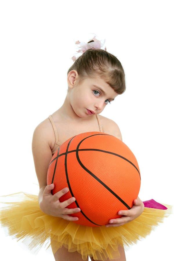balowa baleriny koszykówki dziewczyna trochę obraz stock