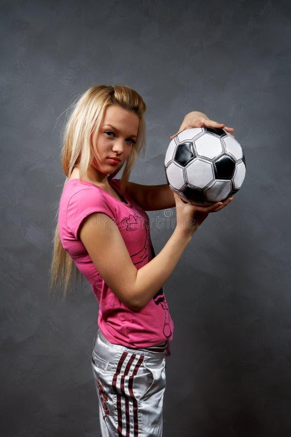 balowa blondynki dziewczyny piłka nożna obraz royalty free