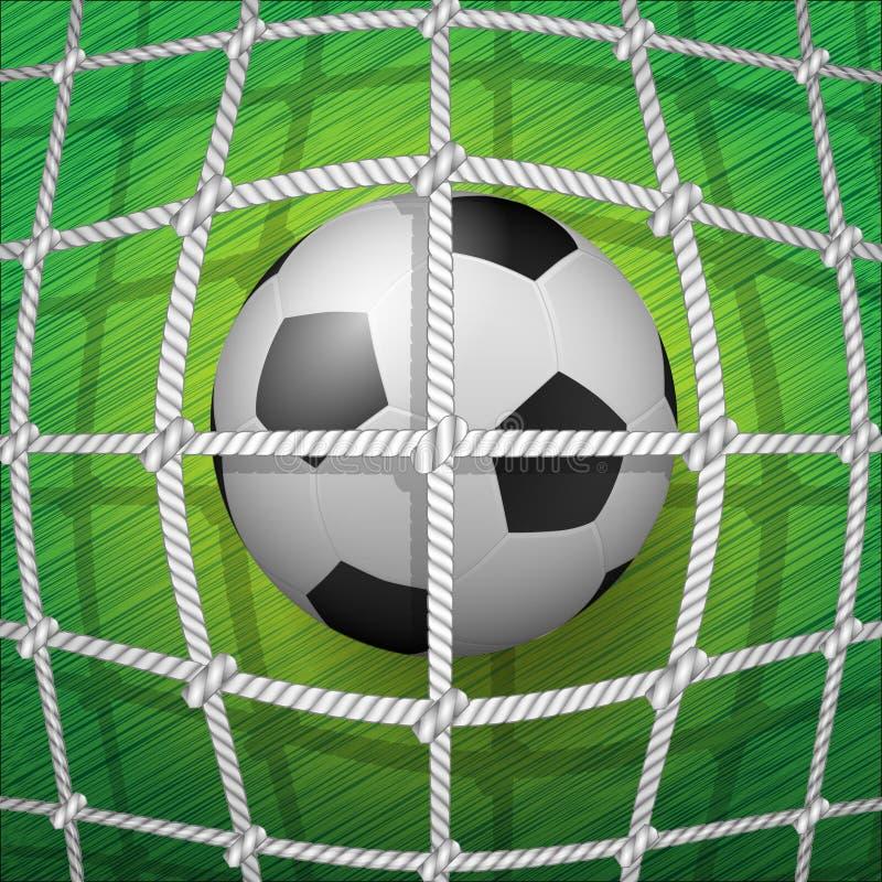 balowa futbolowa bramkowa piłka nożna ilustracja wektor